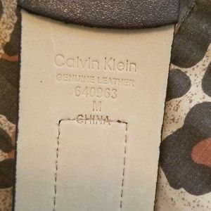 Calvin Klein Accessories - Beautiful Calvin Klein leopard and leather new lad